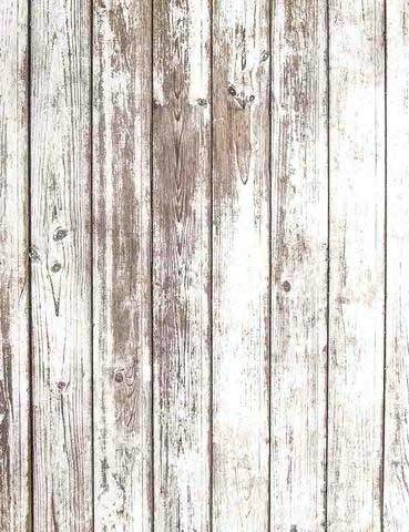 Grunge Paint Off White Wooden Floor Photography Backdrop J-0334