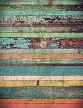 Grungy Colorful Wooden Floor Texture Photography Backdrop J-0458-