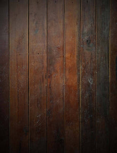Grungy Dark Brown Wood Floor Mat Photography Backdrop J-0719