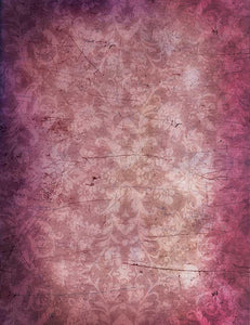 Grungy Purple Damask Wall Photography Backdrop J-0452