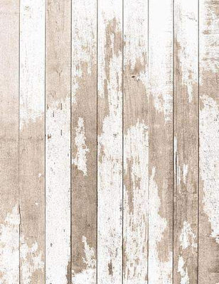 Grungy White Wooden Floor Mat Photography Backdrop J-0610