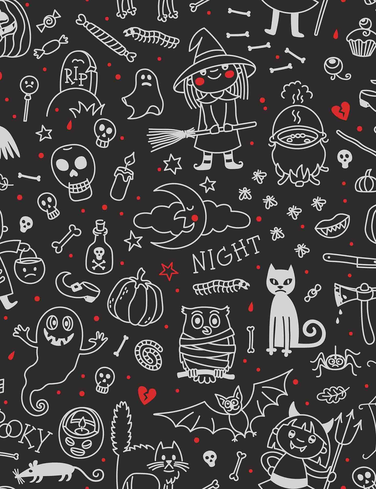 halloween printed on chalkboard background for holiday backdrop