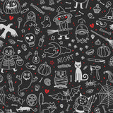 Halloween Printed On Chalkboard Background For Holiday Backdrop - Shop Backdrop