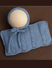Hand Knitted Baby Hat And Pillow Set Photo Props X-0002