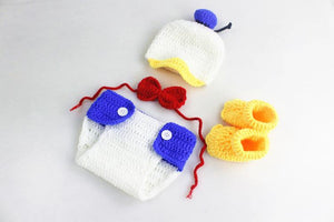 Hand Knitted Cotton Duck Suits Photo Prop