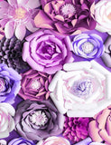 Hand Made Artificial Floral Decoration Wall Photography Backdrop J-0189
