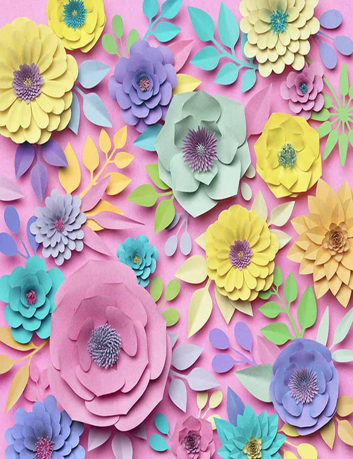Hand Made Paper Floral Flower Wall Photography Backdrop For Wedding  J-0186