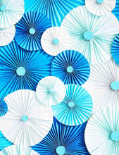 Hand Make Blue And White Pinwheel For Baby Photography Backdrop J-0032