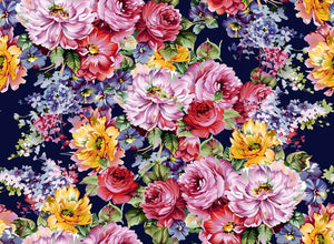 Hand Painted Flowers Photography Backdrop J-0807