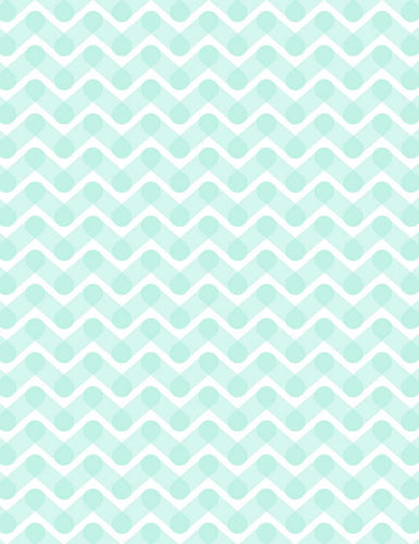 Hand Printed  Green Chevron Backdrop For Children Photography Q-0598