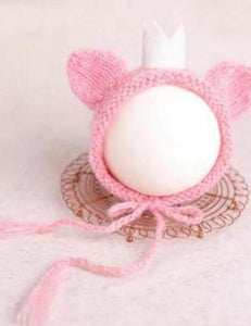 Hand-Woven Newborn Hats With Crown Photography Props