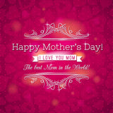 Happy Mother Day Printed On Red Hearts Background Photography - Shop Backdrop