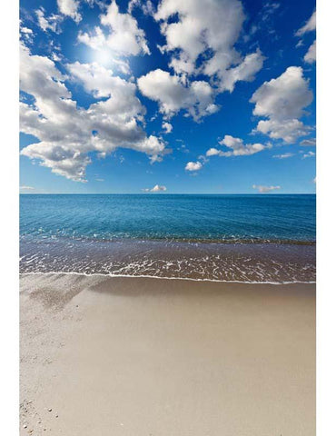 Heavenly Beach Under Blue Sky Backdrop For Photography F-2611