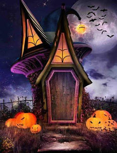 Horror Magic House  Pumpkin Photography For Halloween Backdrop