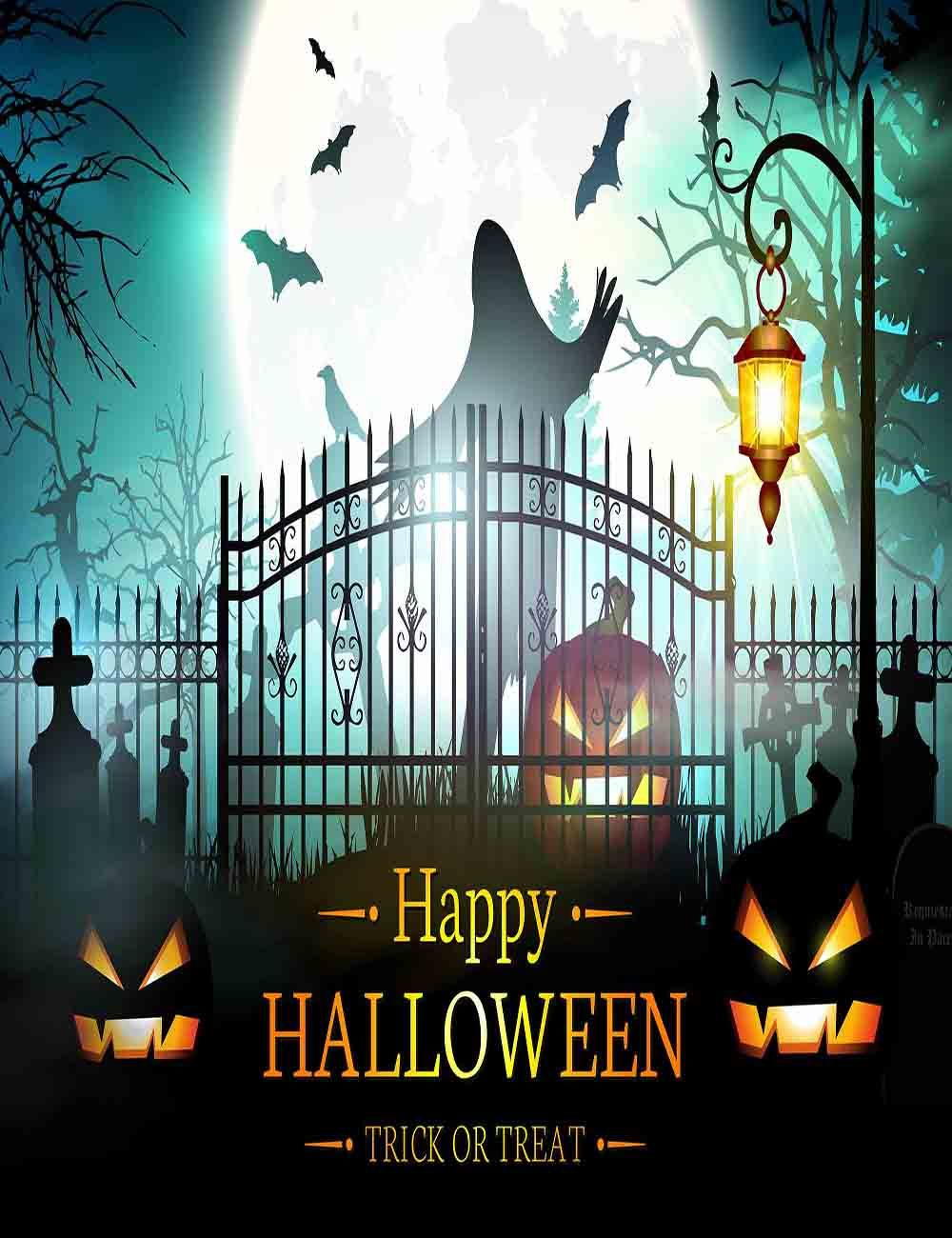 image gate with pumpkin halloween backdrop for photography