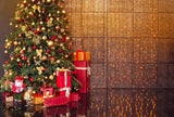 Interior Christmas Decorated By Gift Toy For Holiday Photography Backdrop N-0050