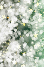Light Silver Bokeh And Golden Start Sparkle Photography Backdrop