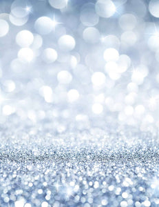 Light Silver Bokeh Sparkle Background For Christmas Backdrop