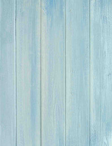 Light Sky Blue Wood Floor Texture Backdrop For Photography