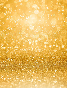 Litter Star Bokeh And Golden Glitter  Background For Christmas Backdrop
