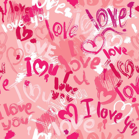 Love Printed Background For Valentines Day Backdrop