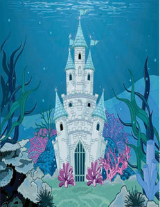 Magic Fairy Tale Mermaid Princess Castle Photography Backdrop J-0364
