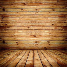 Nature Wood Color Floor And Wood Wall Texture For Photo Backdrop
