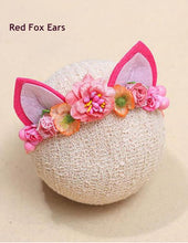 Newborn Fox Ears Headband With Flower Photography Props