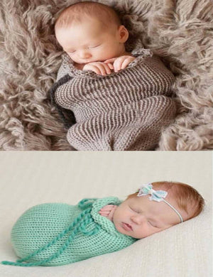 Newborn Knitted Stretch Texture Sleeping Bag Props