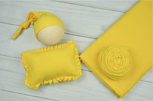 Newborn photography set (background cloth hat pillow wrap) X-0001