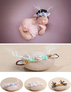 Newborn Yellow Antlers Ears Headband Photography Props