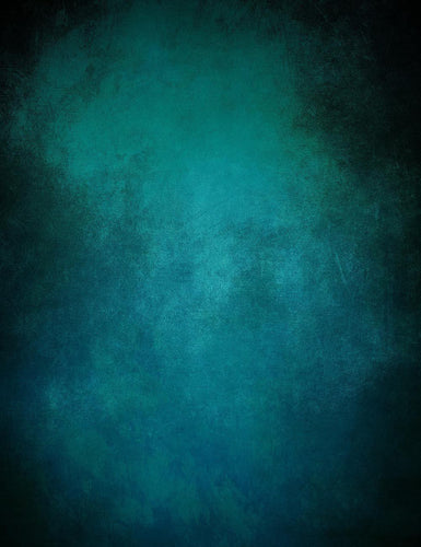 Oil Painted Dark Cyan With Black Around Edges Photography Backdrop J-0707