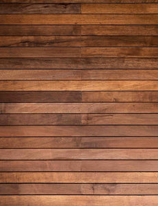 Old Brown Wood Floor Printed Photography Backdrop