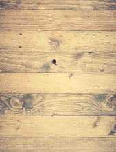 Old Champagne Yellow Wood Floor Mat With Tree Rings Backdrop