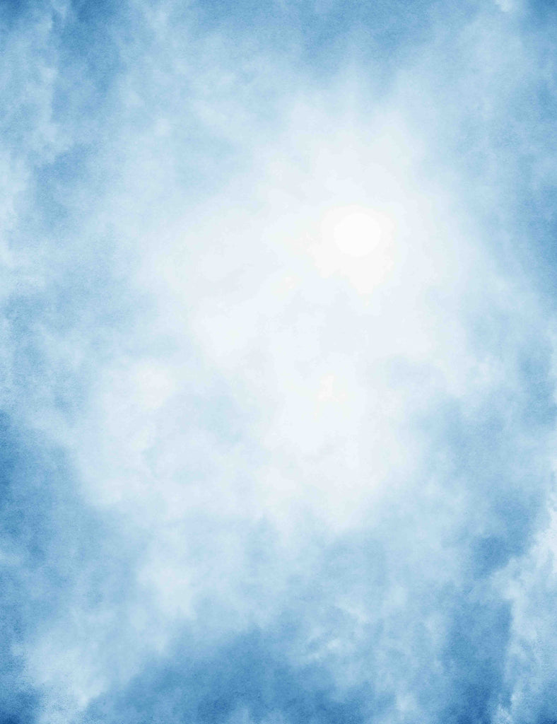 Old Master Sky Blue With White Smoke Abstract Background Backdrop -
