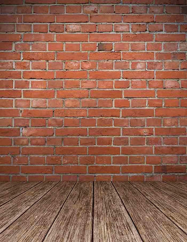 8c67a22314 Old Red Brick Wall Texture With Wooden Floor Backdrop For Photography J-0301