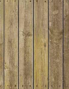 Old Yellow Wood Floor Mat Printed Backdrop For Photography