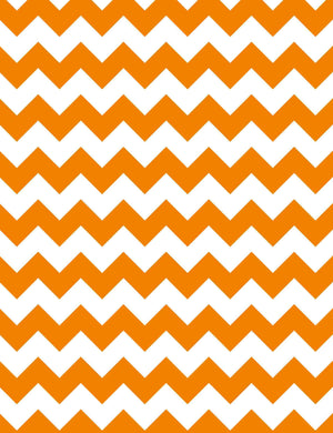 Orange Chevrons Backdrop For Holiday Photography Q-0650