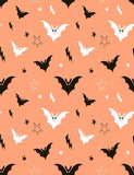 Painted Bat And Star With Orange Background Photography Backdrop J-0206