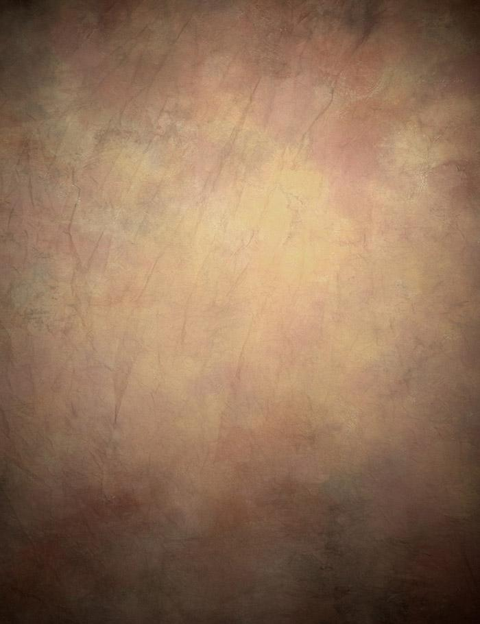 Painted Canvas Cloth Brown Yellow Abstract Texture Photography  Backdrop   J-0543
