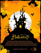 Painted Castle For Halloween Holiday Photography Backdrop