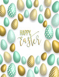 Painted Colorful Easter Eggs For Celebrate Holiday Photography Backdrop J-0017