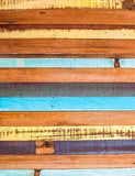 Painted Colorful Narrow Wooden Floor Mat Photography Backdrop J-0360