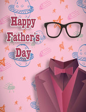 Painted Glasses And Suit For Father's Day Photography Backdrop
