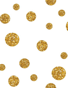 Painted Gold Polka Dots For Holiday Photography Backdrop