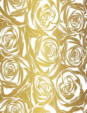 Painted Golden Rose Flower Wall For Wedding Photography Backdrop J-0330