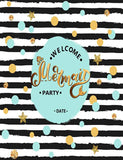 Painted Mermaid Party For Little Girl Photography Backdrop J-0381