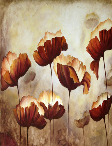 Painted Old Master Flower Photography Backdrop J-0798