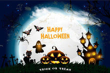 Painted Pumpkin Castle For Halloween Photography Backdrop N-0073