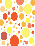 Painted Yellow Orang Dots Backdrop For Photography J-0342